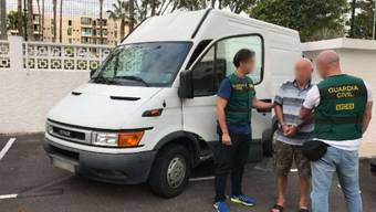 Die spanische Polizei hat den Italiener auf der Insel Teneriffa geschnappt.