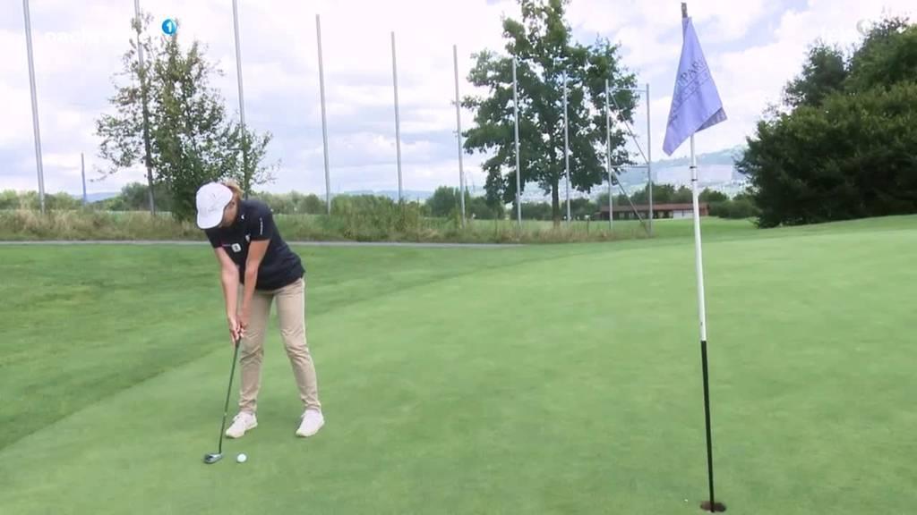 Erster Golfkurs für Blinde in Rotkreuz