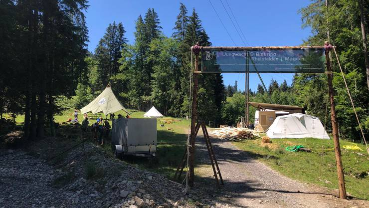 Blick auf einen Teil des Lagerplatzes in Finsterwald (LU)