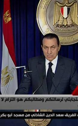 Mubarak am TV am Donnerstag abend
