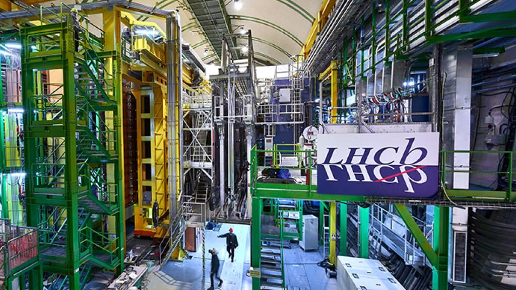 Das Large Hadron Collider beauty experiment LHCb ist eines der vier grossen Experimente am Large Hadron Collider am CERN. LHCb-Messungen, die dem Standard-Theorem widersprechen, deuten auf eine neue physikalische Kraft hin (Pressebild).