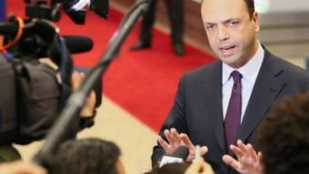 Italiens Aussenminister Angelino Alfano: «Das ist eine Frage, die mit viel Feingefühl behandelt werden muss.»