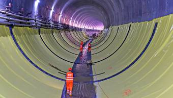 Begehung in der Baustelle Eppenbergtunnel (18. Juli 2018)