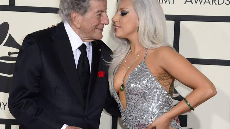 Ein Herz und eine Seele: Popstar Lady Gaga und ihr Mentor Tony Bennett (links). (Archivbild)