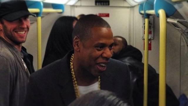 Chris Martin (l) und Jay-Z in der U-Bahn (Instagram)
