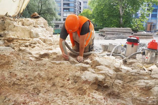 Kantonsarchäologie stiess im Bereich des ehemaligen Staadhofs auf ein gut erhaltenes römisches Bad.