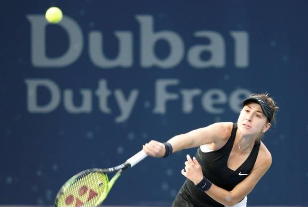 Belinda Bencic entscheidet das Schweizer Duell gegen Stefanie Vögele in der 2. Runde von Dubai klar für sich.