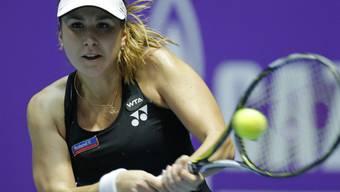 Belinda Bencic steht in St. Petersburg - trotz anfänglicher Schwäche beim Service - in den Halbfinals