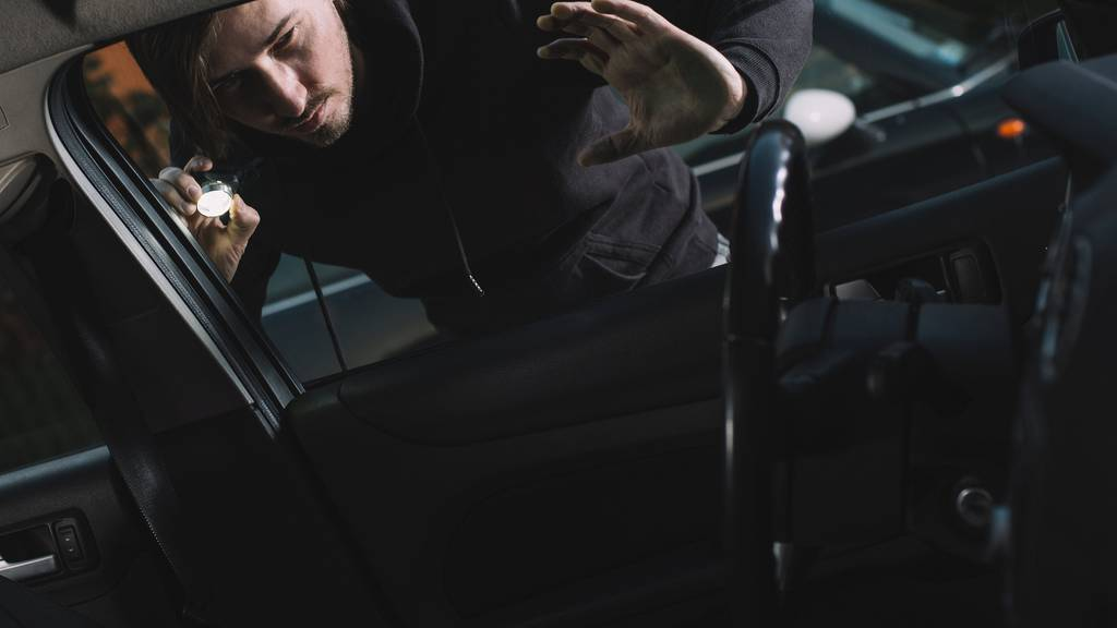 Als der mutmassliche Dieb die Beifahrertüre öffnete, bemerkte er, dass im Auto noch jemand sass
