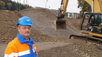 Der kantonale Projektleiter Thomas Meile auf der Grossbaustelle Doppelkreisel.
