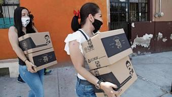 «Chapo-Pakete» für die Bevölkerung Mexikos: In der Not hilft nicht der Staat, sondern die Mafia.
