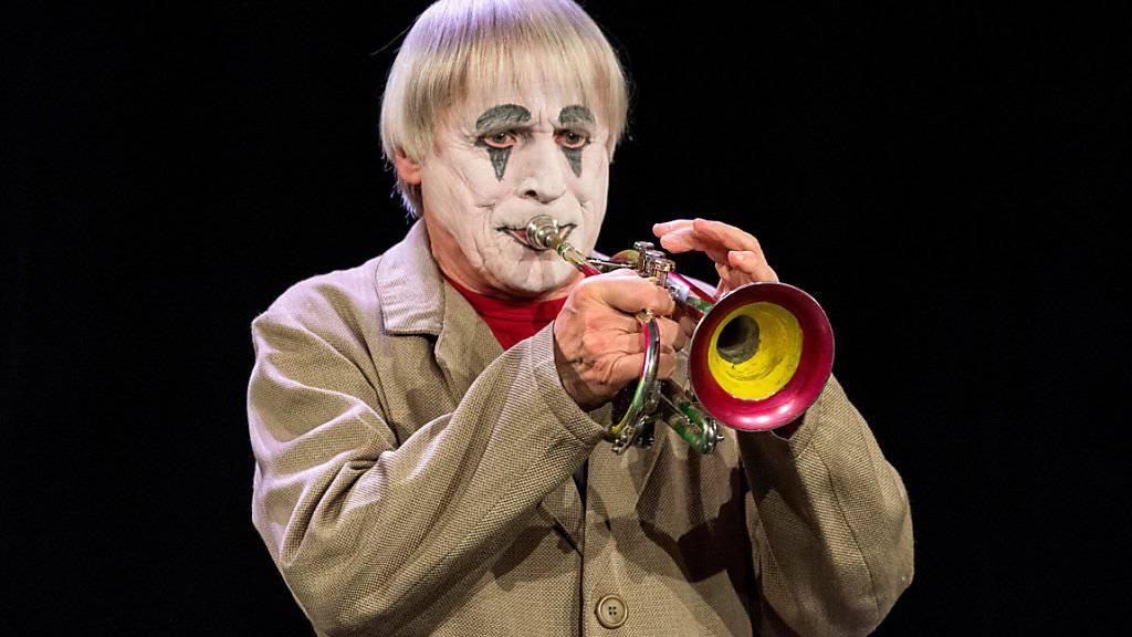 Dimitri im April dieses Jahres in Verscio, Tessin, während der Präsentation seines neuen Stücks «DimiTRIgenerations» der Familie Dimitri.