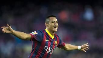 Barcelonas Alexis Sanchez besiegte Elche fast im Alleingang