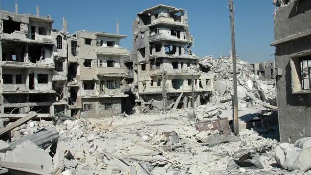 Zerstörte Häuser in Chaldije (Archiv)