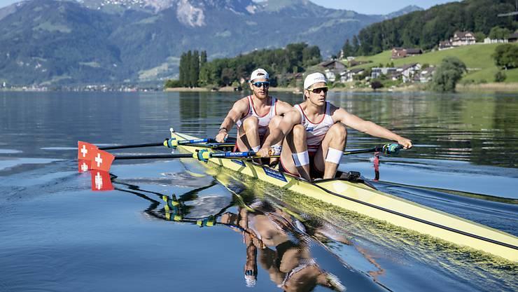 Roman Röösli (vorne) und Barnabé Delarze überzeugten im EM-Halbfinal (Archivbild)