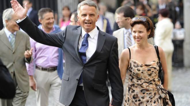 Didier Burkhalter mit seiner Frau Friedrun, hier am Filmfestival Locarno. Sie gilt als eine wichtige Antriebsfeder. Foto: Keystone