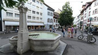 Der Rümelinsplatz in Basel