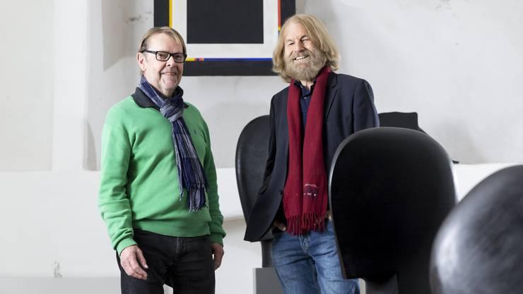 Herbert Niederreuther (l.) und Konrad Oehler haben viel zu erzählen.