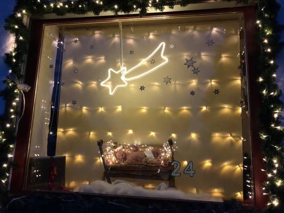 Das Adventsfenster zum 24.Dezember in Utzenstorf