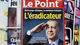 """Die Titelseite der französischen Zeitschrift """"Le Point"""", die den türkischen Präsidenten veranlasst hat, Anzeige wegen Präsidentenbeleidigung einzureichen."""