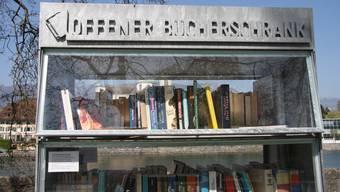Seit fünf Jahren ein Angebot für Gross und Klein: der offene Bücherschrank am Kreuzackerquai.