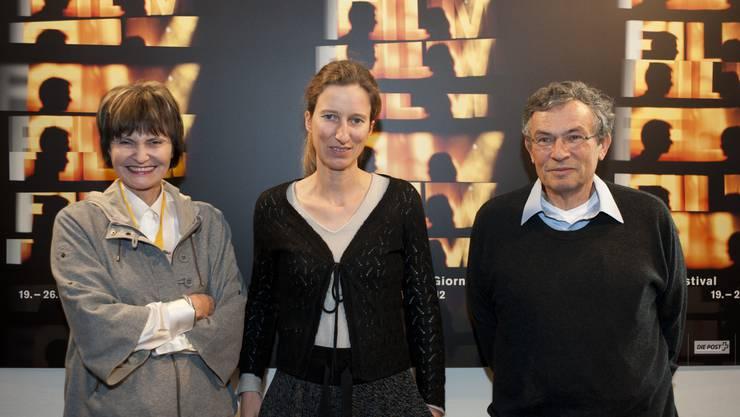 Juri des Prix de Soleure: Micheline Calmy-Rey, Séverine Cornamusaz und Charles Lewinsky