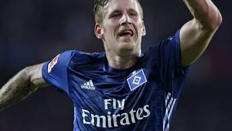 Erlösender Jubel: André Hahn brachte den HSV 1:0 in Führung