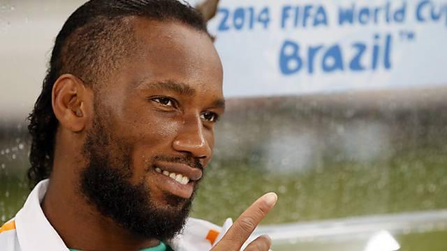 Didier Drogba ist mit der Elfenbeinküste in günstiger Position