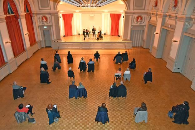 «Kulturtupfer» im Konzertsaal vor handverlesenem Publikum; das war Mitte November noch möglich. (Archivbild)