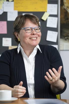 """Marianne Wildi: """"Ich musste zuerst mein Pult entstauben, das ich jahrelang nicht mehr benutzt habe."""""""