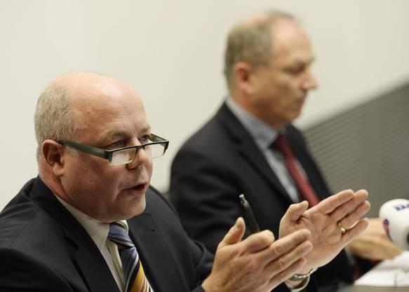 Oberjugendanwalt Marcel Riesen im Jahr 2014. Er ist der Chef von Marcel Gürber. (Keystone/Steffen Schmidt, 6. März 2014, Zürich)