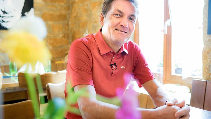 Daniel Bumann im Restaurant Kehlengrabenschlucht in Hofstetten. Ein Betrieb, den er – so sagt es der Wirt – gerettet hat.