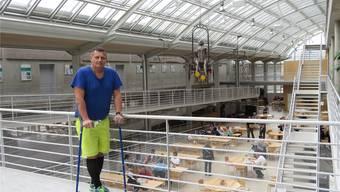 Christian Loose im Paraplegikerzentrum Nottwil, wo er ausgezeichnet betreut und gefördert wurde, wie er selbst sagt.