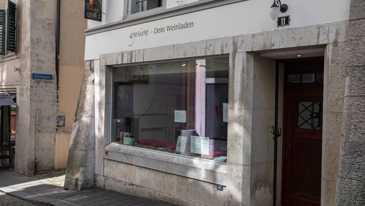 Der Weinladen «Wysion» in der Gerberngasse 11 wird nicht wieder öffnen.