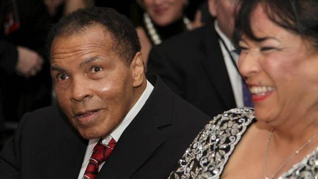 Für viele der wohl beste Boxer aller Zeiten: Muhammad Ali bei den Feierlichkeiten am Samstag