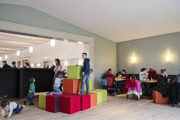 – genau so wie im Spielbereich des neu eröffneten Zolli-Restaurants.