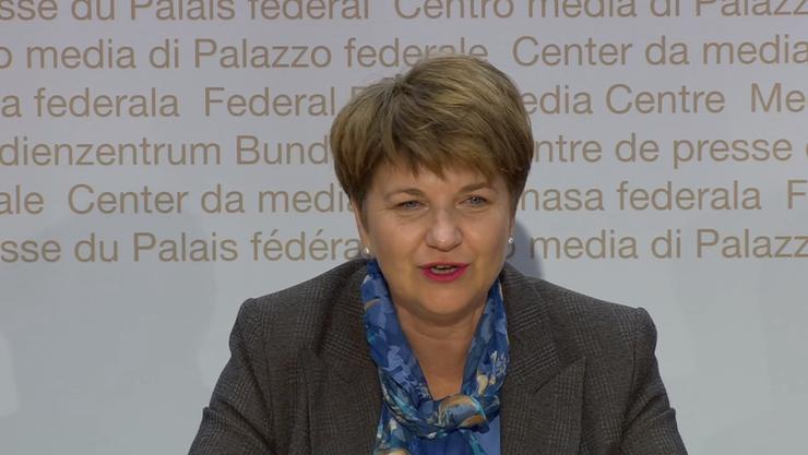 Die erste Medienkonferenz der neuen Bundesrätin Viola Amherd.