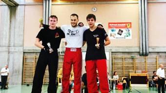 Lukas Keller und Florian Blaser schlugen sich in ihrem ersten Turnier gut.