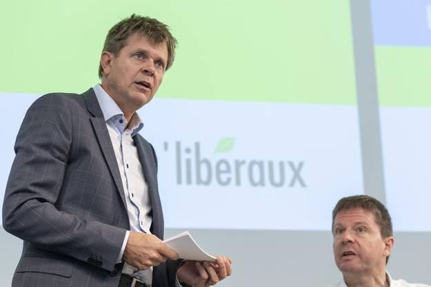 GLP-Gründerpräsident Martin Bäumle (rechts) erkennt heute manchmal «seine» Partei (mit Präsident Jürg Grossen) nicht mehr.