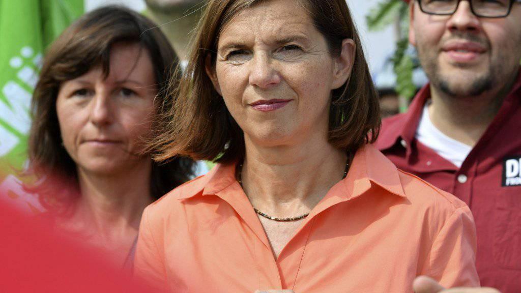 Die grüne Fraktionscheffin Katrin Göring-Eckardt will auch in Berlin an die Macht - und warnt vor weiteren vier Jahren des «Aussitzens und Stillstands».