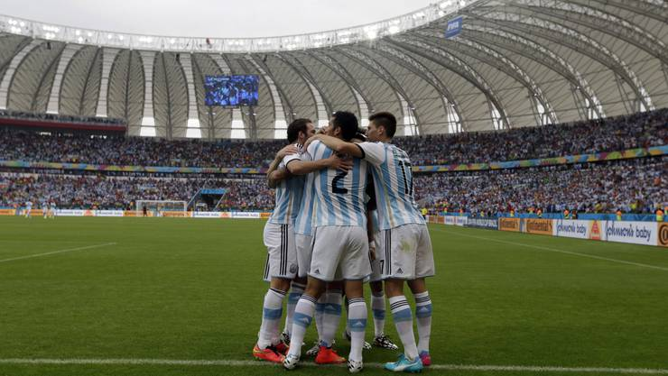 Jubel bei den Argentiniern über den Sieg