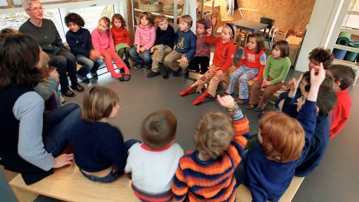 In Aargauer Kindergärten soll weiterhin Hochdeutsch und Mundart gesprochen werden (Symbolbild)