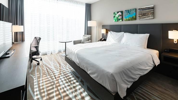 Ein Zimmer des im März eröffneten «Hilton Hotel Garden Inn Zurich Limmattal». Es könnte regionalen Hotels neuen Schwung verschaffen.