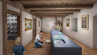 So könnte es im Museum Schiff dereinst aussehen. Bild: zvg