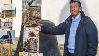 Heinz Koch an der von ihm mitorganisieren Ausstellung «30 Jahre nach dem Brand der Stadtkirche». Lukas Schumacher