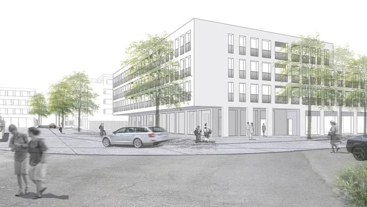 Die Wohn- und Gewerbebauten sollen das Suhrer Zentrum aufwerten.