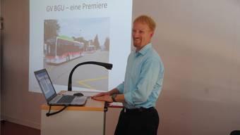 Kjell Kolden, neuer Leiter der Abteilung öV beim Kanton, stellte sich vor.