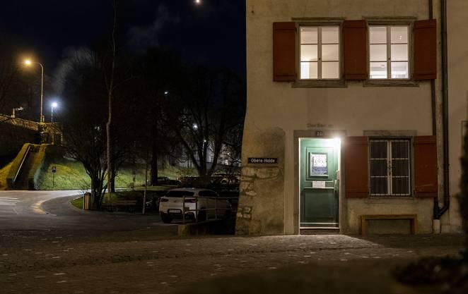 Aussenansicht der Notschlafstelle in Baden, am 12. Dezember 2019. Seit September 2019 gibt es an der Obere Halde 23 inBaden eine Notschlafstelle.