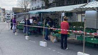 Der Wochenmarkt in Wohlen kann weiterhin stattfinden.