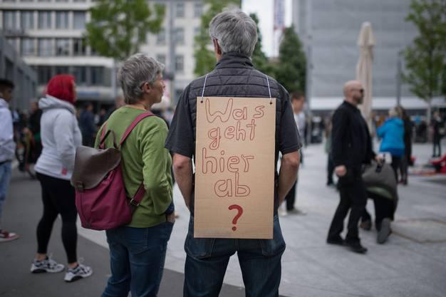 Demonstration gegen den wegen dem Coronavirus verhängten Lockdown, am Samstag, 16. Mai 2020, in St. Gallen.